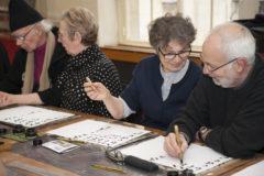 Visite de l'hotel Soubise à Paris dans le cadre de l'action Art culture et Alzheimer. Suivi d'un atelier de calligraphie.